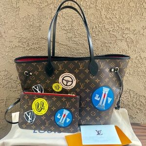 ❤️🌎WORLD TOUR LOUIS VUITTON FULL SET neverfull mm